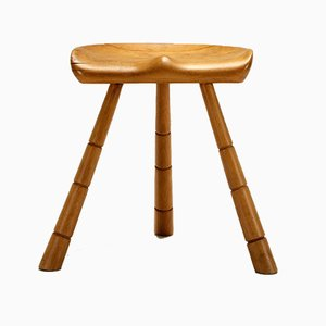 Danish Tripod Milking Stool by Arne Hovmand-Olsen, 1940s