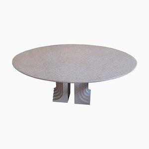 Tavolo da pranzo Samo in granito di Carlo Scarpa per Studio Simon, anni '70