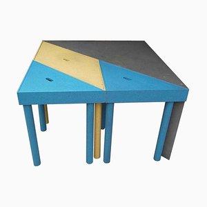 Modulare Tangram Esszimmertische von Massimo Morozzi für Cassina, 1983, 4er Set