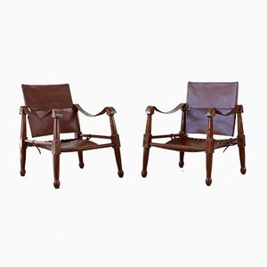 Safari Armchairs, 1940s, Set of 2
