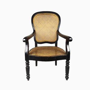Napoleon III Sessel aus Schilfrohr