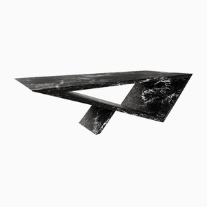 Time/Space Portal Coffee Table in Black Soapstone by Neal Aronowitz