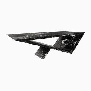 Time / Space Portal Couchtisch aus schwarzem Speckstein von Neal Aronowitz