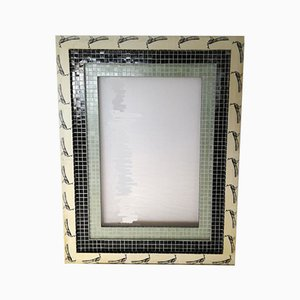 Vintage Mirror with Bisazza Mosaic Frame by Berni Arch Stefano, 1980s