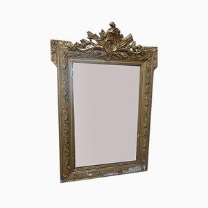 Antiker böhmischer Spiegel mit vergoldetem Rahmen