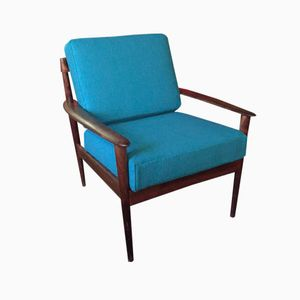 Rosewood Easy Chair by Grete Jalk for Poul Jeppesens Møbelfabrik, 1950s
