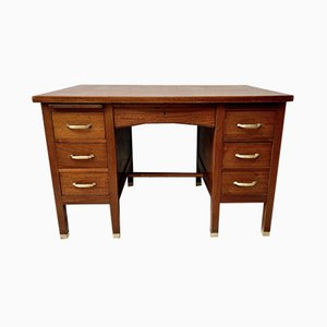Vintage Mahogany Desk with Drawers
