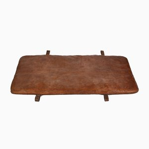Vintage Czech Gymnastics Mat in Brown Leather, 1930s