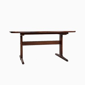 Mid-Century Danish Oval Dining Table in Rosewood by Skovby