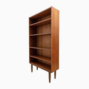 Mid-Century Danish Teak Freestanding Bookcase from Hasberg Mobler