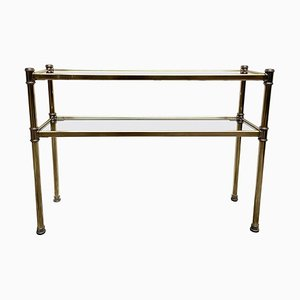 Brass and Chrome Console, Italy, 1970s