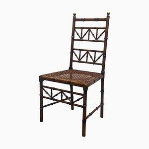Stuhl aus Holz mit Intarsien aus Holz, Italien, 1950er