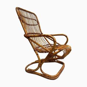 Rattan Armchair, Italy, 1960s