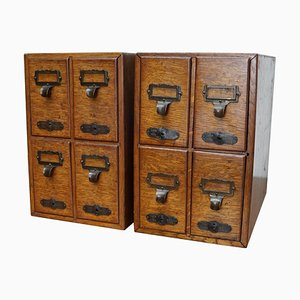 French Oak Apothecary Cabinet / Filing Cabinet, Paris, 1920s