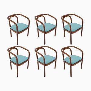 Bugholz Esszimmerstühle von Ton, 1992, 6er Set