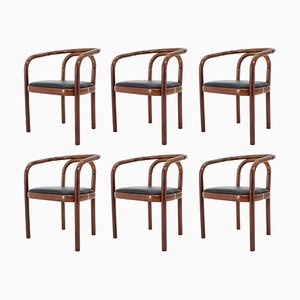 Bentwood Dining Chairs Ton, Czechoslovakia, Set of 6