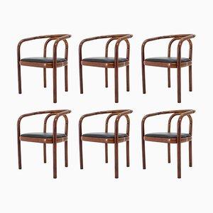 Chaises de Salon en Bois Courbé Ton, Tchécoslovaquie, Set de 6