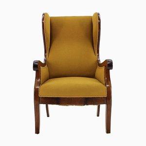 Mahogany Wingback Armchair by Frits Henningsen, Denmark, 1940s