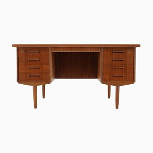Teak Free Standing Writing Desk, Denmark, 1960s
