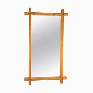 Schwedischer Spiegel aus Kiefernholz von Eriksmåla
