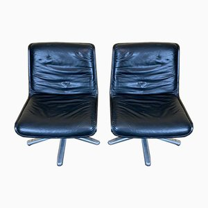 Leather Swivel Chairs from Wilkhahn, Set of 2