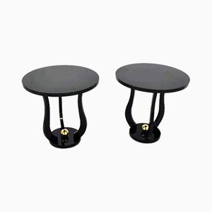 Art Deco Style Piano Lacquer Side Tables, Set of 2