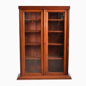Antiker Glasierter Viktorianischer Bücherschrank