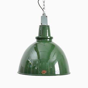 Lampada a sospensione grande industriale verde di Thorlux
