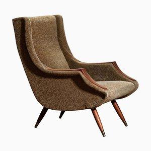 Italian Lounge / Easy Chair by Aldo Morbelli for Isa Bergamo, 1950s