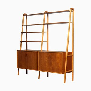 Shelves / Sideboard in Teak and Beech from Brantorps, Sweden, 1950s