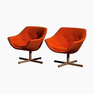 Mandarini Swivel Armchairs by Carl Gustaf Hiort and Nanna Ditzel, 1960s, Set of 2