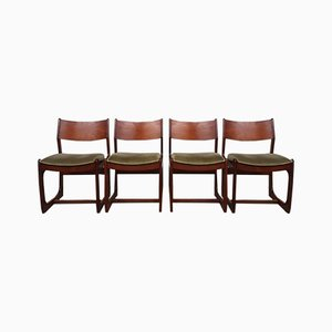 Mid Century Portwood Teak Dining Chairs, Set of 4
