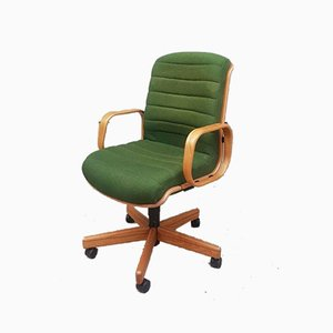 Mid Century Executive Office Swivel Desk Chair by Martin Stoll for Giroflex