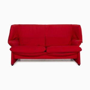 Rotes Maralunga Sofa von Cassina