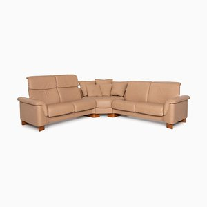 Paradise Beige Leather Corner Sofa from Stressless