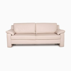 Flex Plus Cream Leather Sofa by Ewald Schillig
