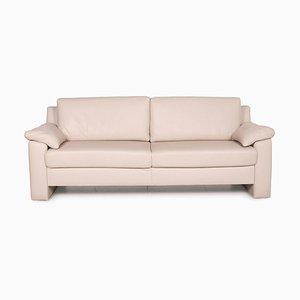 Flex Plus Cream Leather Sofa by Ewald Schillig