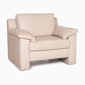 Ewald Schillig Flex Plus Leather Armchair Cream