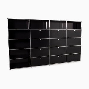USM Haller Black Metal Wall Unit