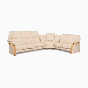 Eldorado Cream Leather Cream Corner Sofa from Stressless