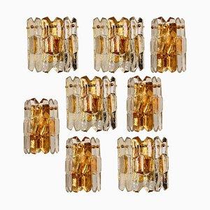 Lampada da parete Palazzo in ottone dorato e vetro di JT Kalmar