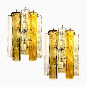 Lampade da parete grandi in vetro di Murano di Barovier & Toso, set di 2