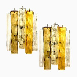 Large Wall Lights in Murano Glass from Barovier & Toso, Set of 2