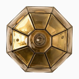 Clear Glass Wall Light from Limburg, 1960s