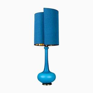 Lampe de Bureau de Holmegaard avec Nouvel Abat-Jour en Soie sur-mesure par René Houben, 1960s