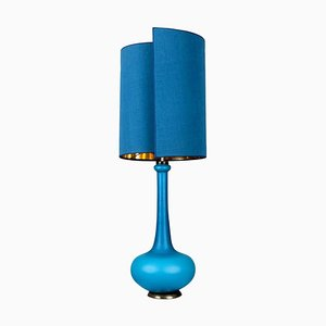 Table Lamp from Holmegaard with New Silk Custom Made Lampshade by René Houben, 1960s