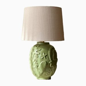 Green Ceramic Table Lamp by Anna-lisa Thomson for Upsala-ekeby, 1940s