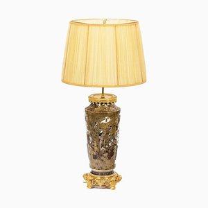 Satsuma Earthenware Lamp, Circa 1880