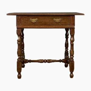 Small English Oak Table Lamp