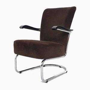 Model 4053 Tubular Lounge Chair by Gebr. De Wit for Gispen, The Netherlands
